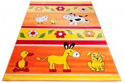 Dywan 120x170 kinder dla dzieci pomarańczowy Zdjęcie na imgED