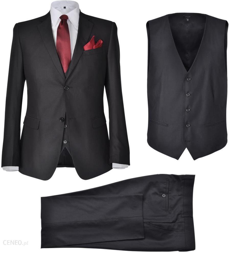 a335f0aab55cf VidaXL Trzyczęściowy garnitur męski rozmiar 50 czarny - Ceny i ...