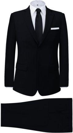 2a76dad459c65 vidaXL 2-częściowy garnitur biznesowy męski czarny rozmiar 48