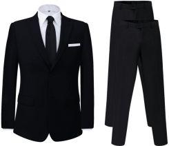 c9f27dae3b42c vidaXL Dwuczęściowy garnitur z dodatkowymi spodniami czarny rozm. 46 -  zdjęcie 1