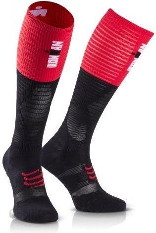 9fe3b0c5 Compressport Skarpety Kompresyjne Full Socks Ultralight Racing Ironman  Czarno Czerwone - zdjęcie 1