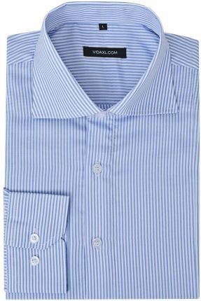 74877a982 Koszula verson 1808 długi rękaw custom fit niebieski 164/170 43 ...