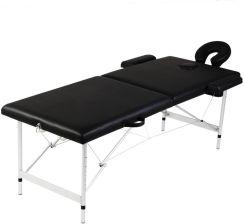 Bardzo dobra Łóżko do masażu VidaXL Czarny składany stół do masażu 2 strefy z IB11