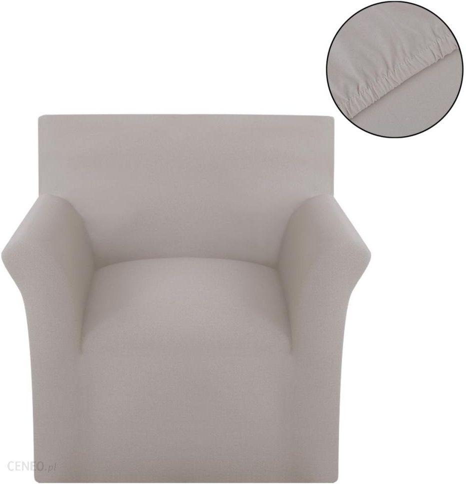Ogromny VidaXL Elastyczny pokrowiec na fotel z dżerseju beżowy - Opinie i LS26