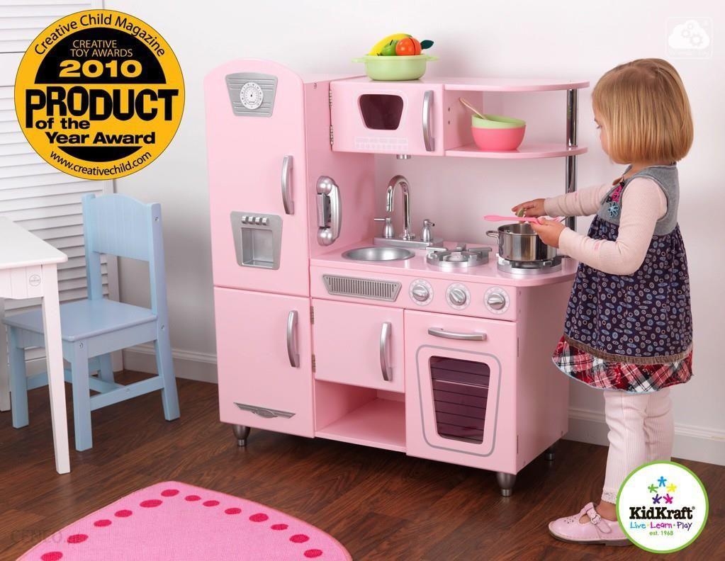 Kidkraft Kuchnia Drewniana Dla Dzieci Pink Vintage 53179