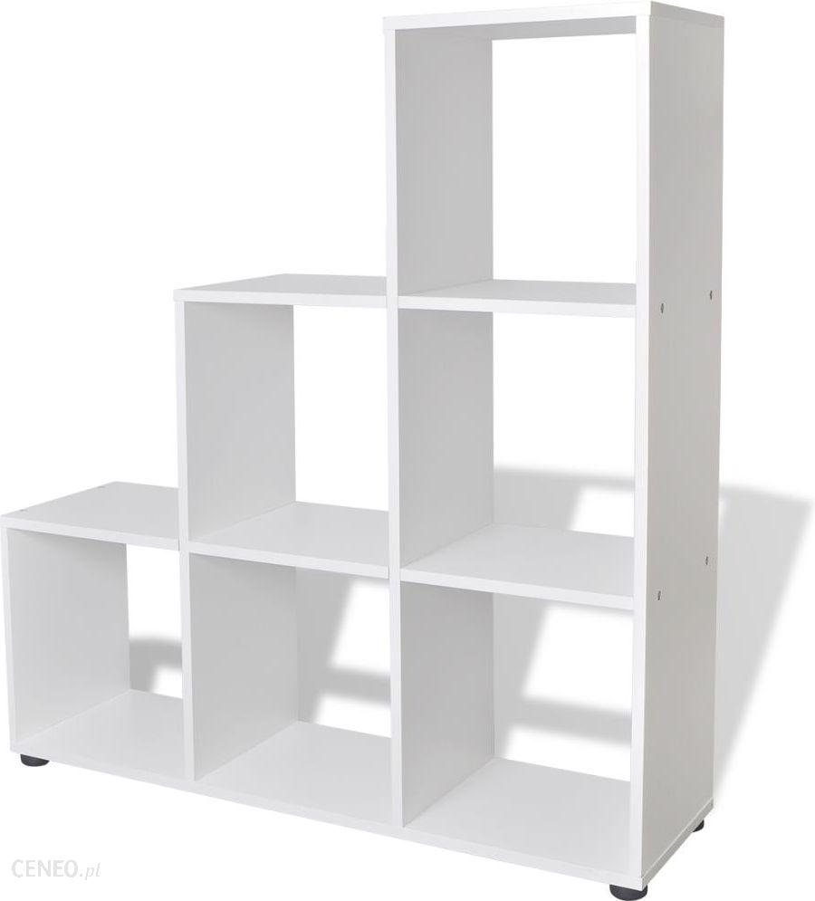 Vidaxl Schodkowy Regał Na Książki 107 Cm Biały