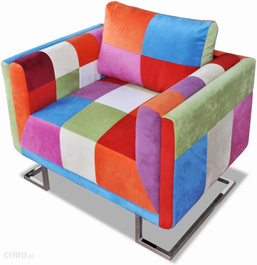 """vidaXL Patchwork"" fotelis su ""Chrome"" kojelėmis"