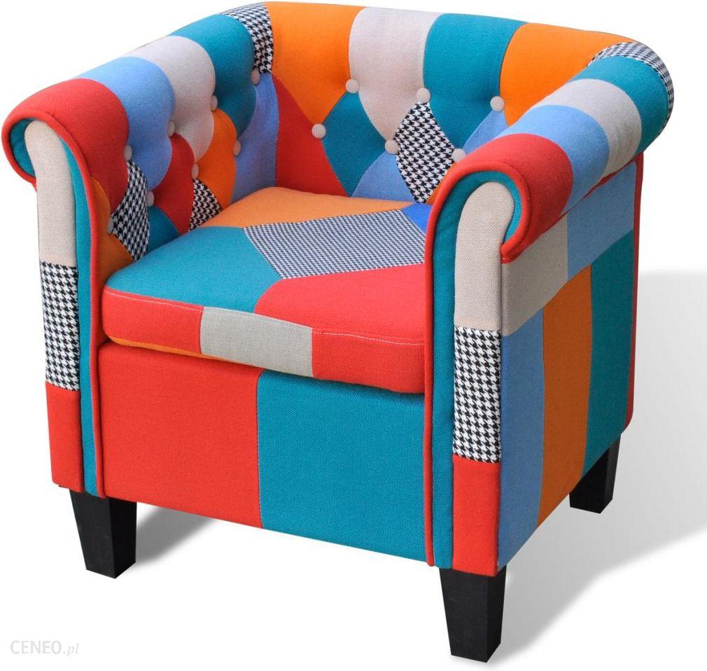 """aukštos kokybės """"vidaXL Patchwork"""" fotelis"""