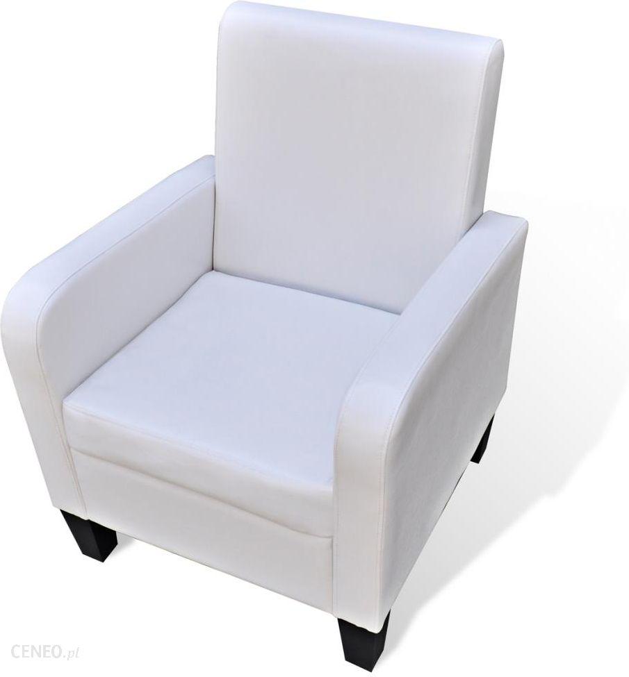 vidaXL Miękki nowoczesny fotel ze sztucznej skóry biały