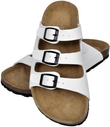 12abd26cdda54 Podobne produkty do Klapki koturny Madam Melisa Black 36. VidaXL Białe  sandały z korkową podeszwą ...