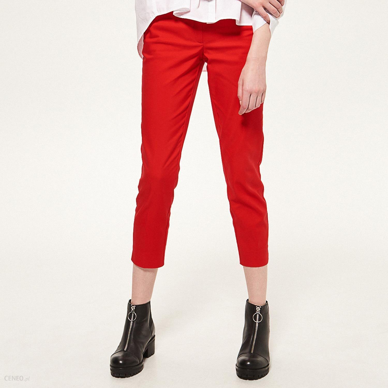 2095dd00cf9e52 Reserved - Spodnie cygaretki - Czerwony - Ceny i opinie - Ceneo.pl