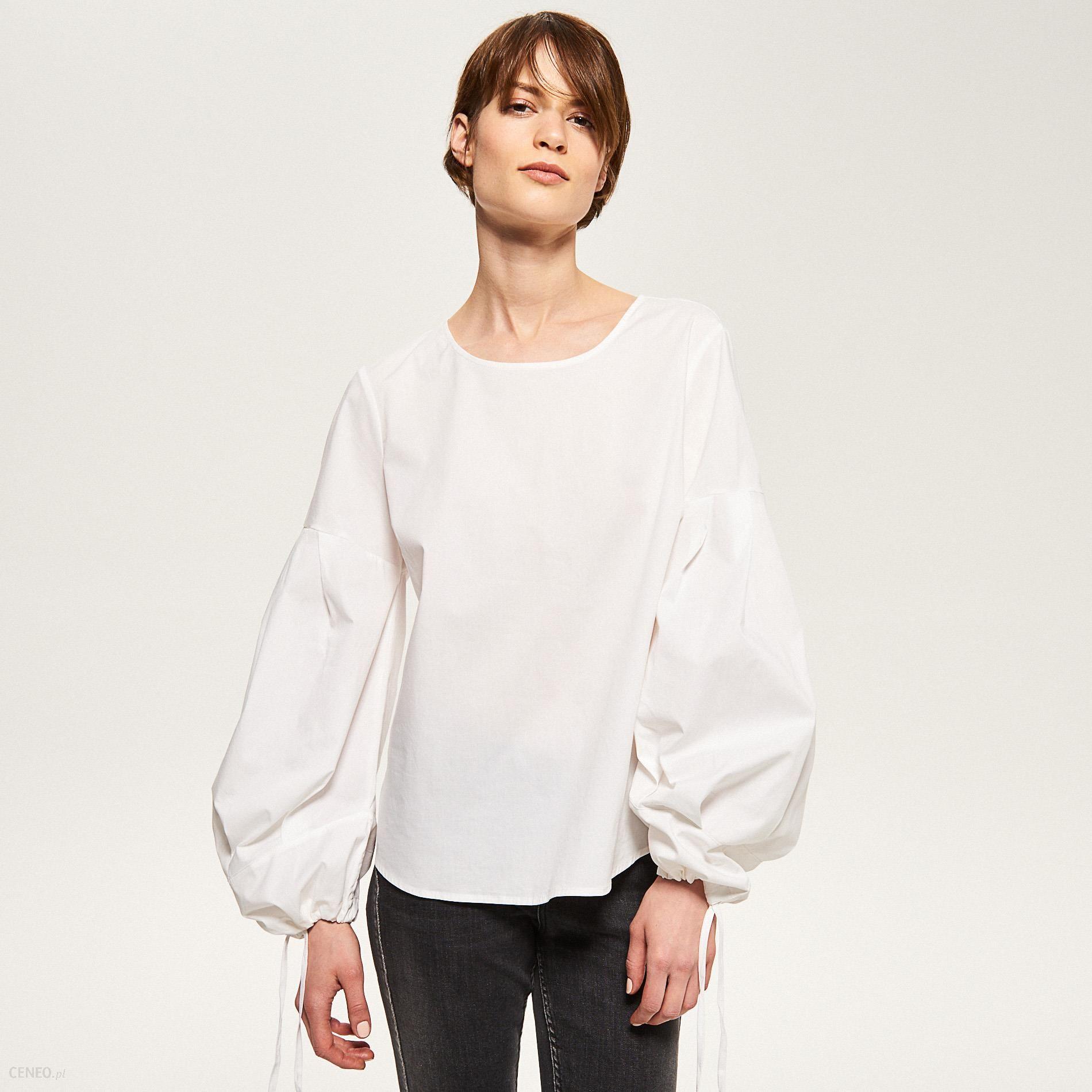47ef2fb007a09c Reserved - Bluzka z szerokimi rękawami - Biały - Ceny i opinie ...