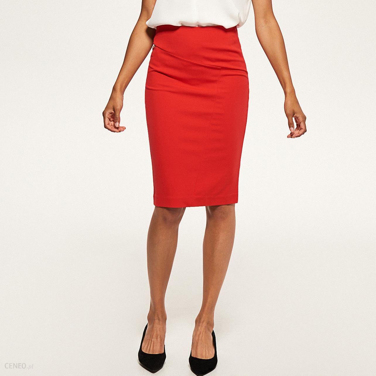 Ołówkowa spódnica Czerwony