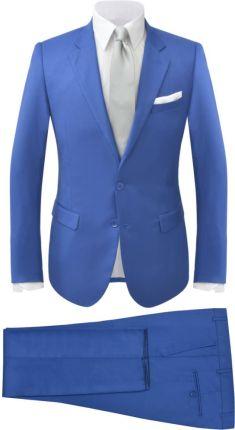 50c1c3332a829 vidaXL Garnitur męski dwuczęściowy, błękitny, 50