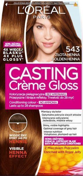 wypadanie włosów po casting creme gloss