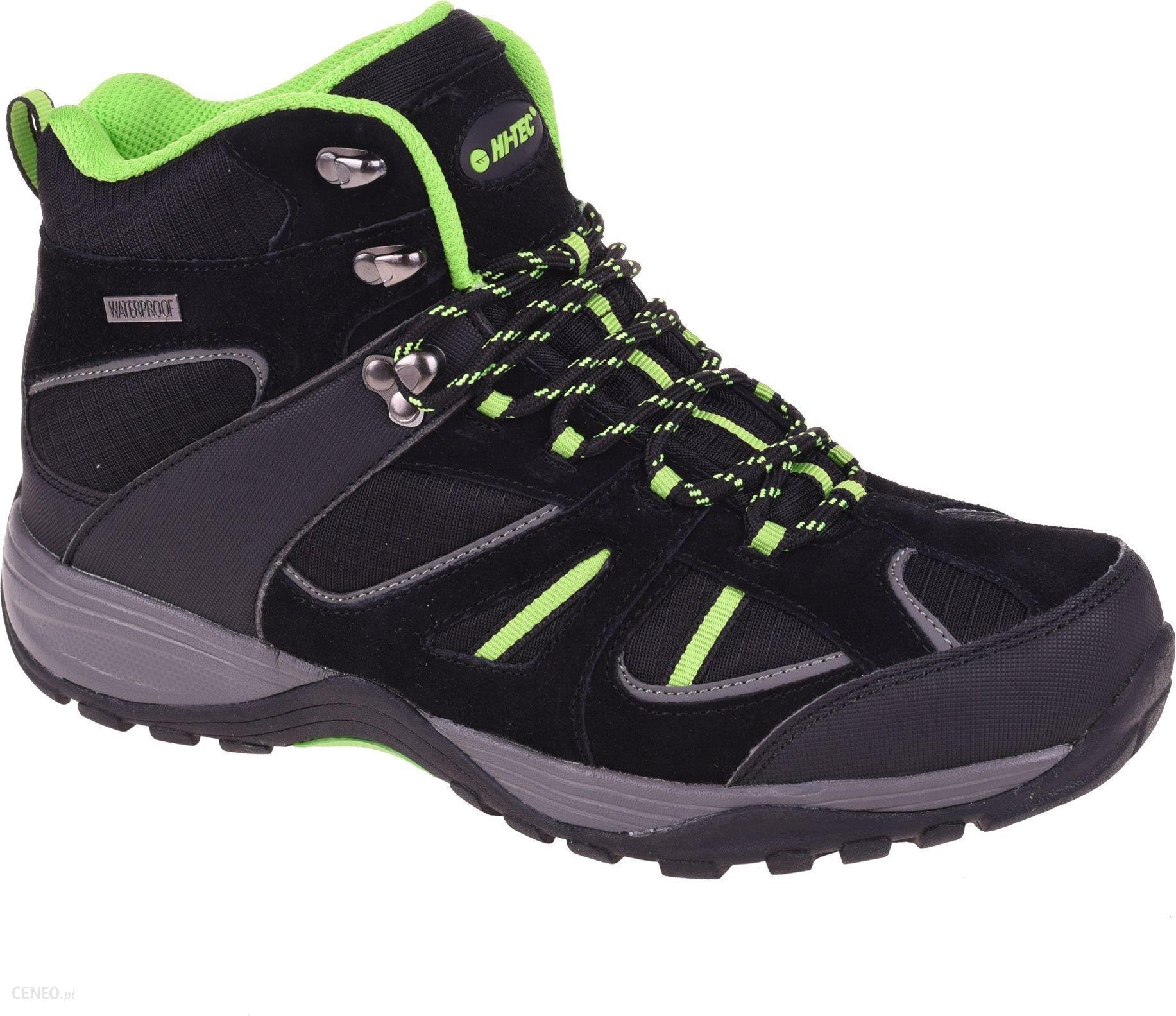 Buty trekkingowe Hi tec Męskie buty SARAPO MID WP, kolor czarno zielony, 42 Ceny i opinie Ceneo.pl