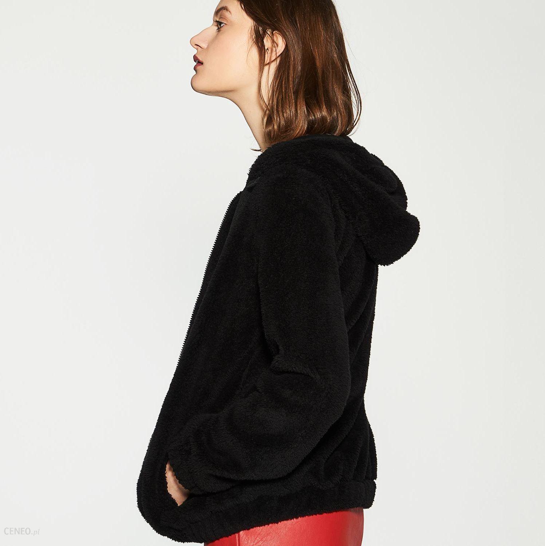 bluza pluszowa czarna damska