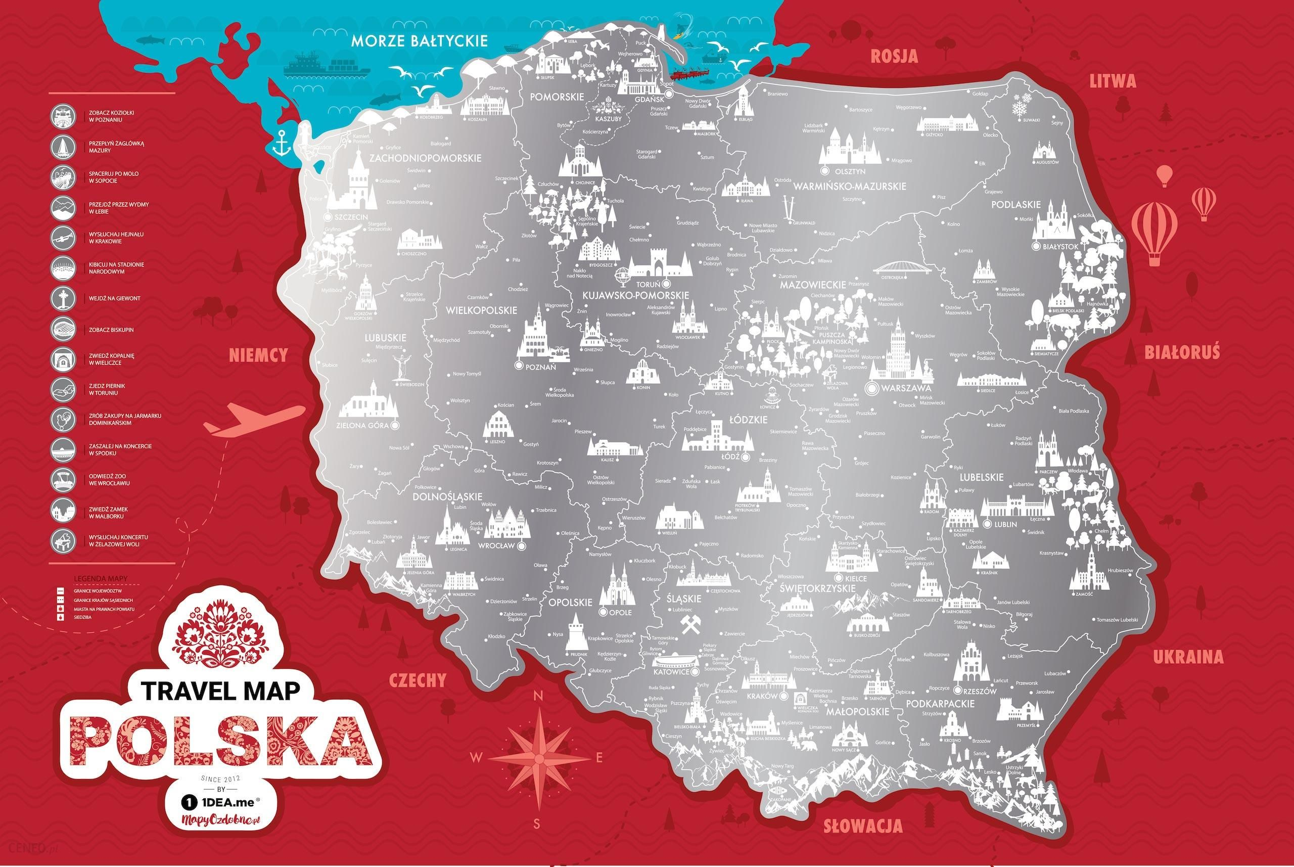 Mapa Zdrapka Polska Gadzety Dla Domu Ceny I Opinie Ceneo Pl