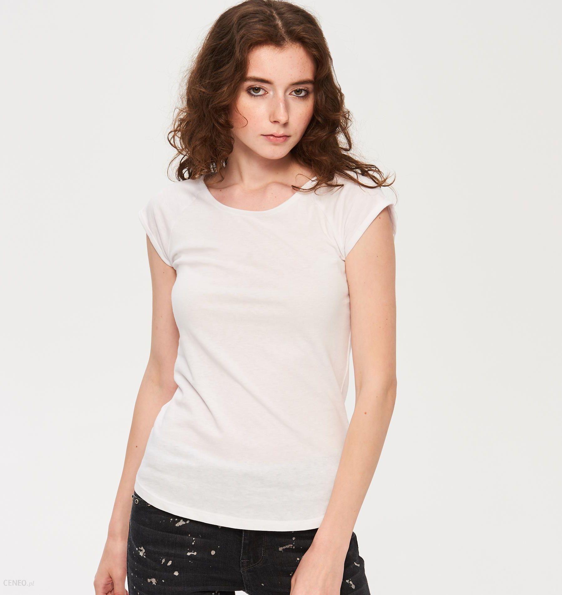 Sinsay T shirt basic Biały