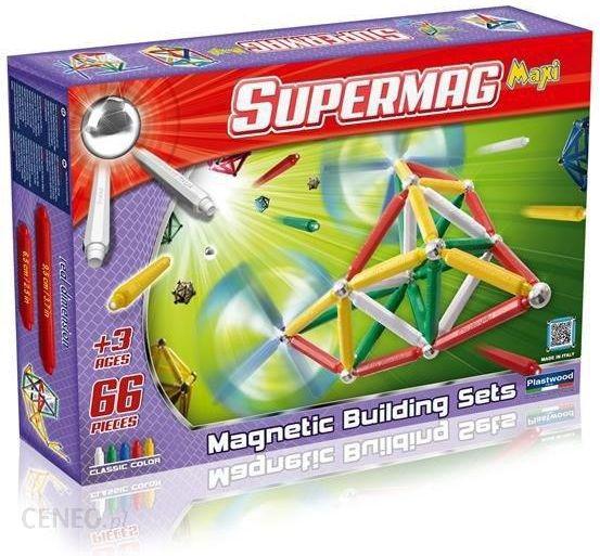 Plastwood Klocki Magnetyczne Supermag Maxi Classic 66el Ceny I Opinie Ceneo Pl