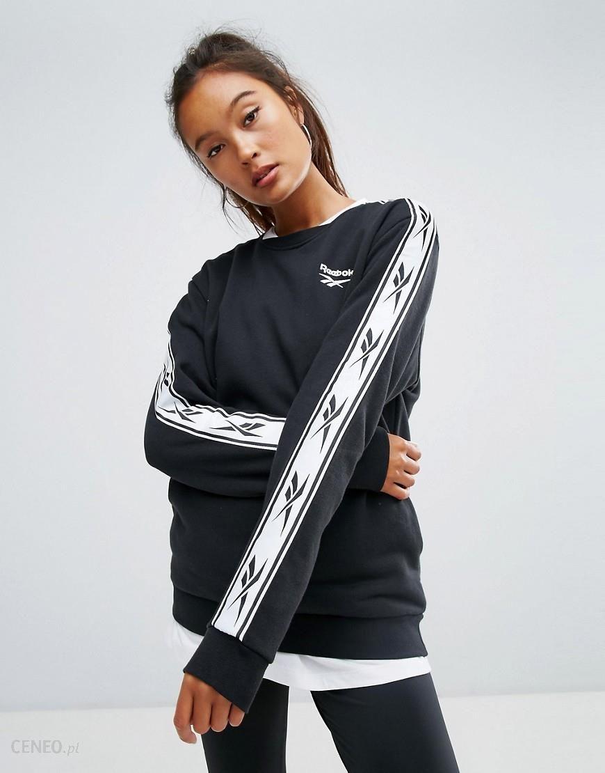Reebok Classics Lost & Found Taped Sweatshirt In Black Black