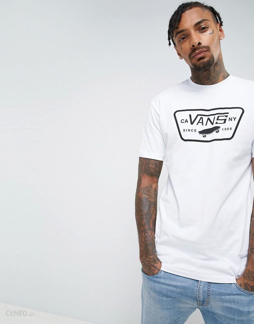 Vans Full Patch Logo T Shirt In White V00QN8YB2 White