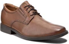 a969edd780cbd Półbuty CLARKS - Tilden Plain 261300977 Dark Tan Leather eobuwie