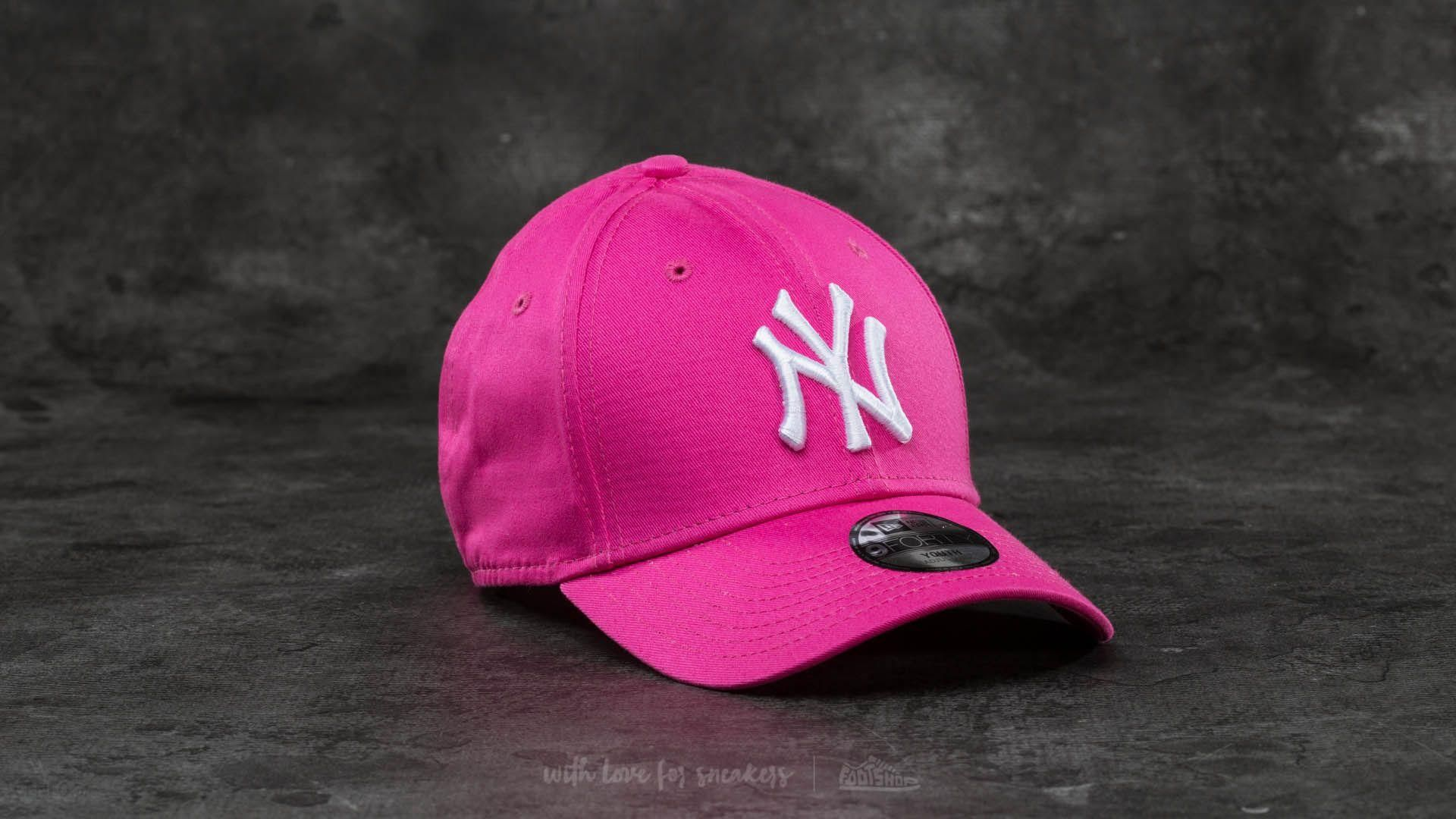 9f609449378 New Era Youth 9Forty Adjustable MLB League New York Yankees Cap Pink  White  - zdjęcie
