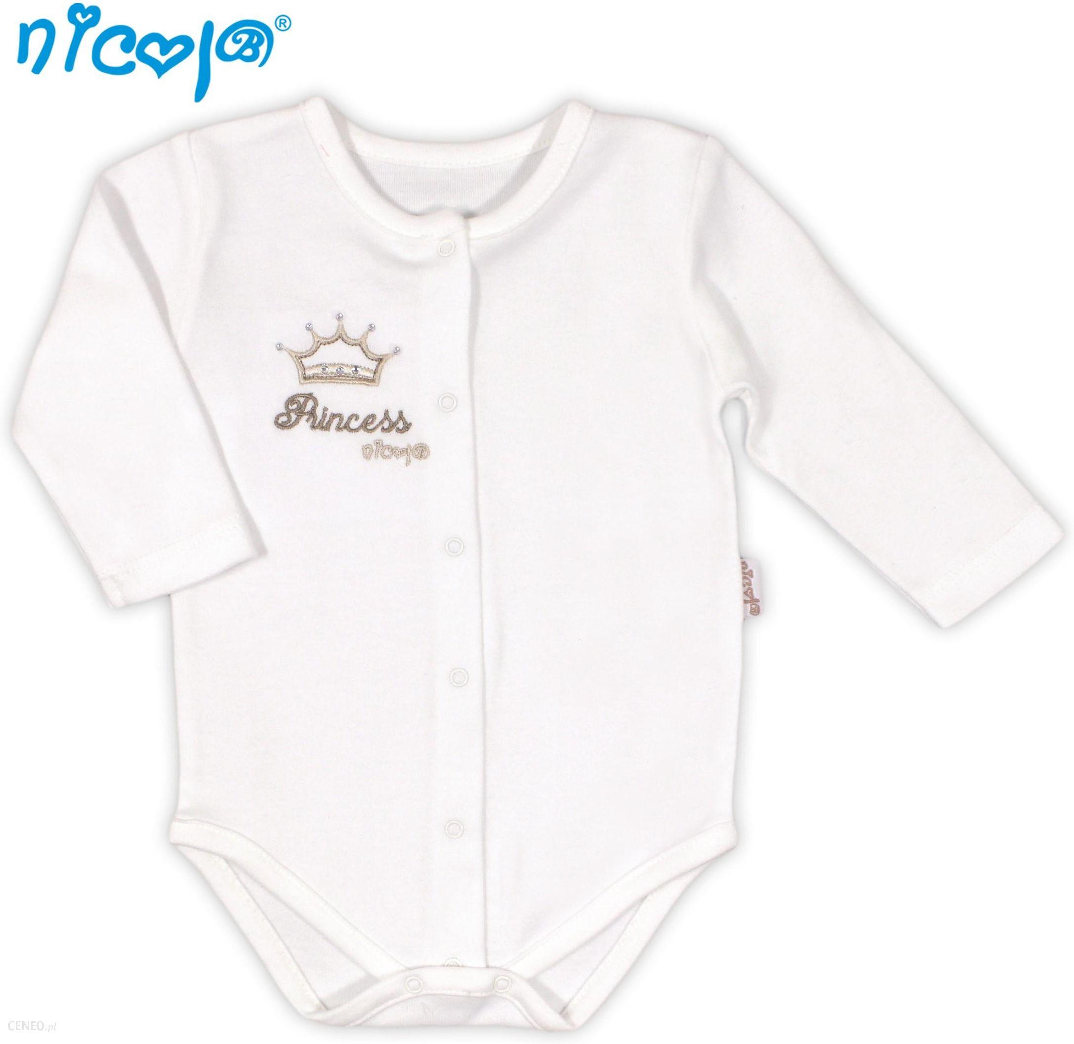 de6ccb98fa2c5a Body niemowlęce bawełniane rozpinane długi rękaw PRINCESS 48-62 Nicola -  zdjęcie 1