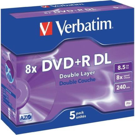 Verbatim DVD+R 8.5GB 8x Jewel Case 1szt (43541)