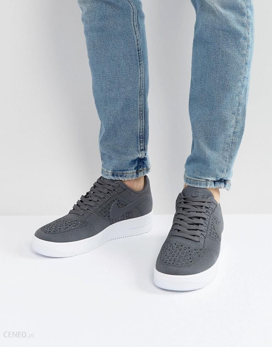 445d77051726f Nike Air Force 1 Ultra Flyknit Low Trainers In Grey 817419-007 - Grey -