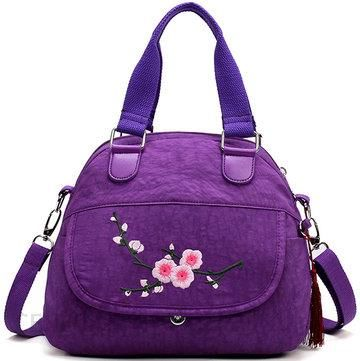 69df15a33b Flower Pattern Nylon National Style Handbag Shoulder Bag Crossbody Bag For  Women - zdjęcie 1
