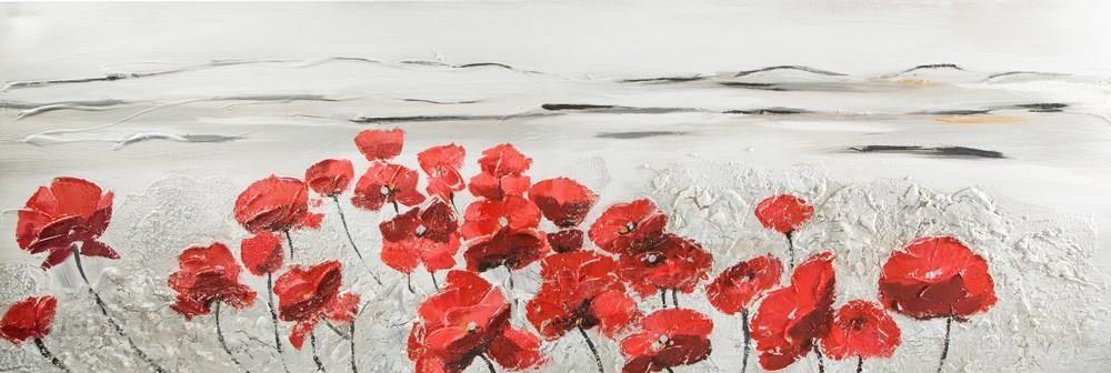 Nowość Obraz Angela 1 50x150 czerwone maki Eurofirany - Opinie i IN12