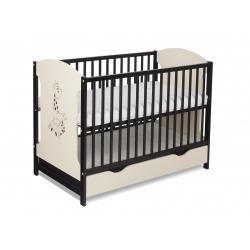meble dla dzieci skrzat Łóżeczko miki 104 (nadruk Żyrafka) krem/venga + szuflada - skrzat