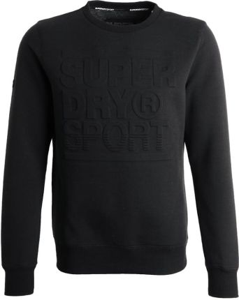 Superdry GYM TECH Bluza black/ash granite
