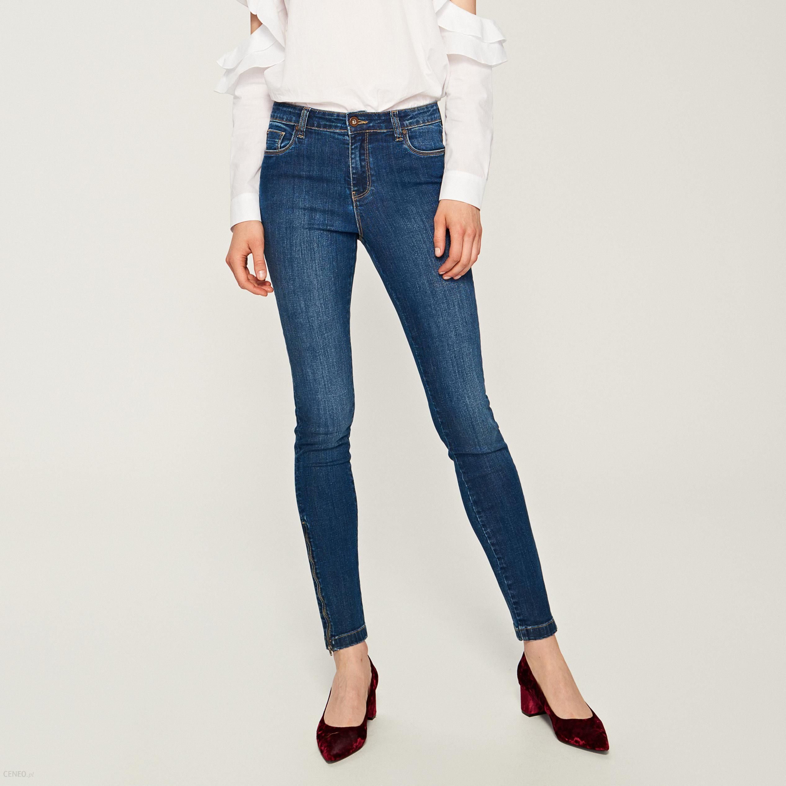 15927615 Reserved - Jeansy z zamkami przy nogawkach - Granatowy
