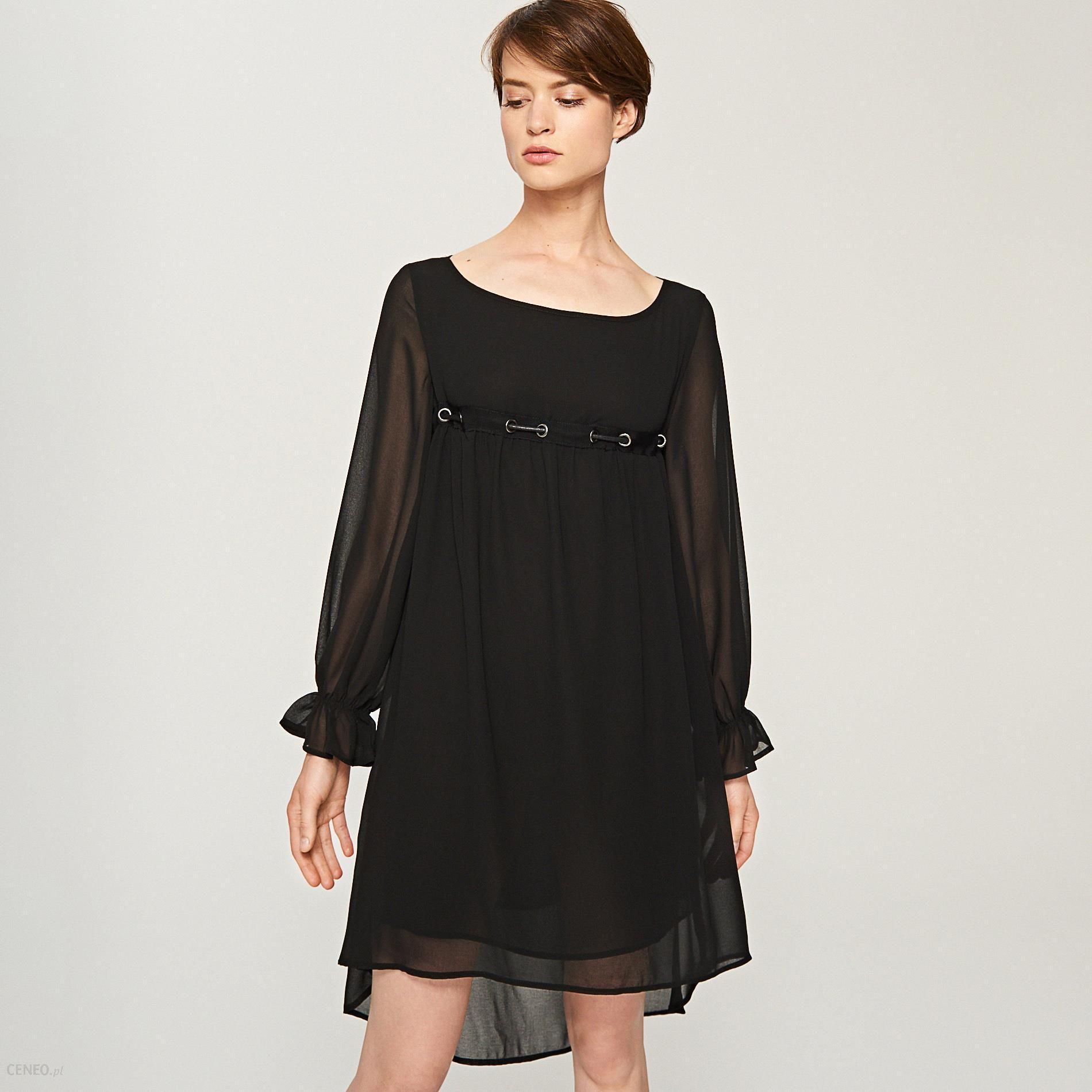 c4b8db25 Reserved - Sukienka z ozdobnym sznurowaniem - Czarny