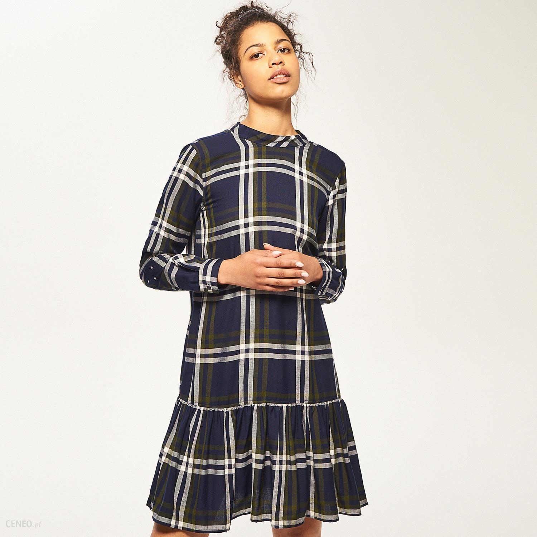 627c165c6d Reserved - Sukienka w kratkę - Wielobarwn - Ceny i opinie - Ceneo.pl