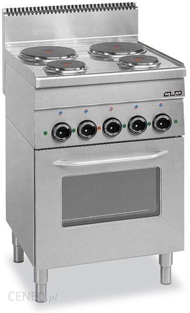 Mbm Kuchnia Elektryczna Wolnostojąca Z Piekarnikiem Elektrycznym 4 Płytowa Linia 600 E4f6