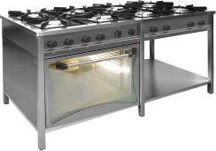 Egaz Kuchnia Gazowa 8 Palnikowa Z Piekarnikiem Elektrycznym 415 33