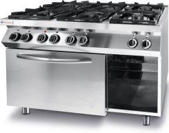 Hendi Kuchnia Gazowa 6 Palnikowa Kitchen Line Z Piekarnikem Elektrycznym