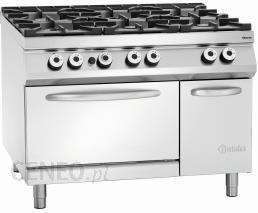 Bartscher Kuchnia Gazowa 6 Palnikowa Z Piekarnikiem Elektrycznym 2 1