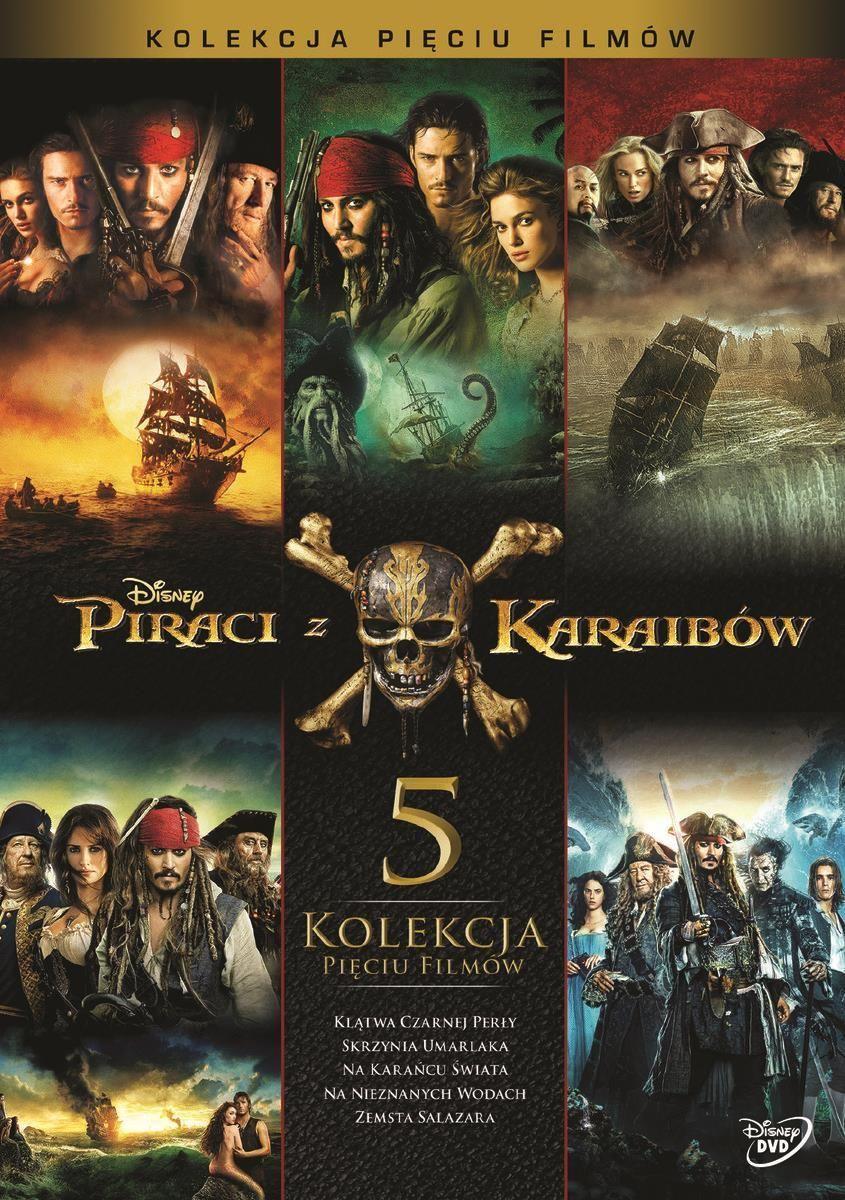 Piraci z Karaibów Pakiet 1-5 (5DVD)