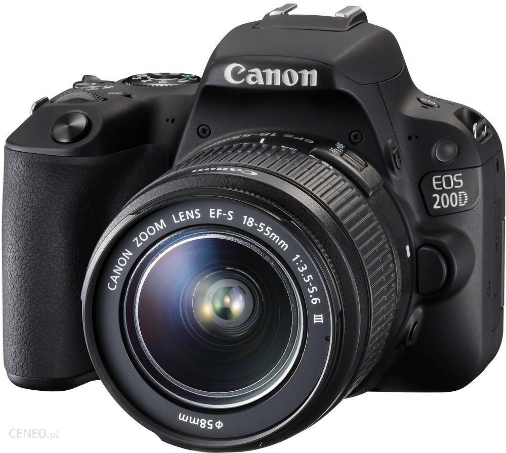 Lustrzanka Canon Eos 200d Czarny 18 55mm Ceny I Opinie Na Ceneo Pl