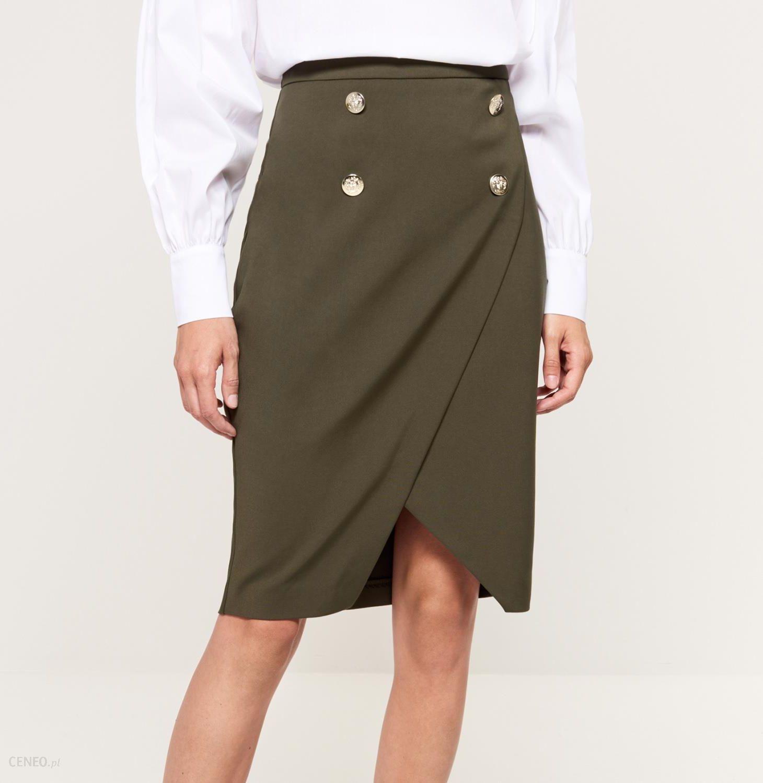 0d3c0a70 Mohito - Ołówkowa spódnica w marynistycznym stylu - Zielony