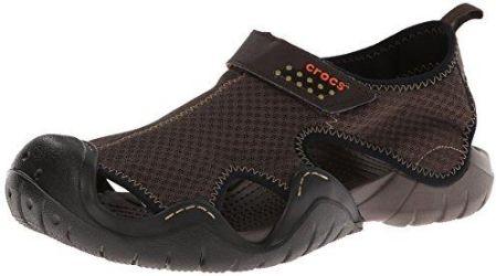 Amazon Sandały crocs Swiftwater Sandal dla mężczyzn, kolor: brązowy, rozmiar: 34 35