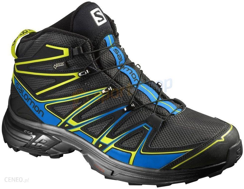 Buty trekkingowe X Chase Mid GTX Salomon czarno niebieskie
