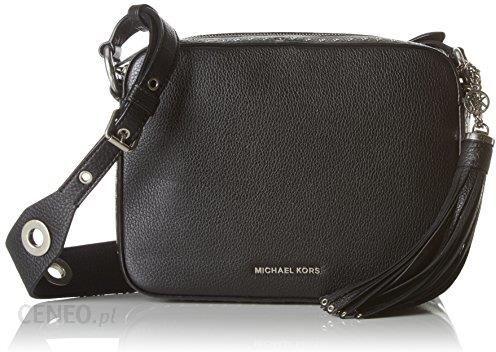 63932da88f657 Amazon Michael Michael Kors damski Brooklyn skórzana torebka Crossbody Bag  Czarny
