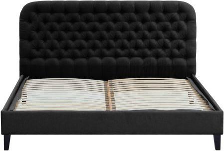 Czarne łóżka Styl Klasyczny Ceneopl