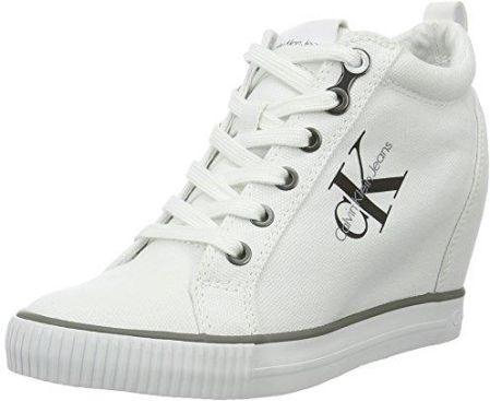 official photos 63180 23f3c Amazon Buty sportowe za kostkę Calvin Klein Jeans RITZY CANVAS dla kobiet,  kolor biały